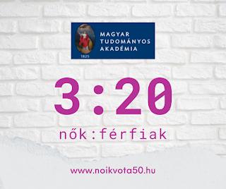 Az MTA Magyar Tudományos Akadémia vezetői között 3:20 a nők és férfiak aránya #KE45