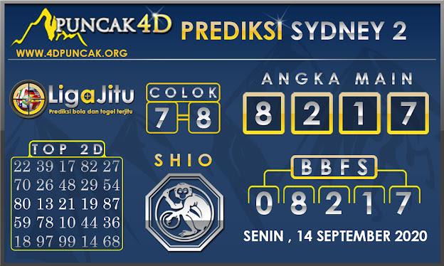 PREDIKSI TOGEL SYDNEY2 PUNCAK4D 14 SEPTEMBER 2020