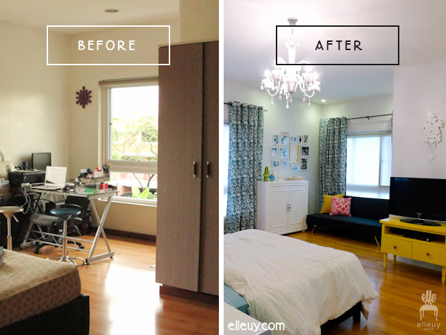 before and after, teen girl bedroom