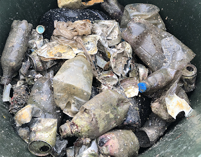 coastal cleanup ocean trash picked up