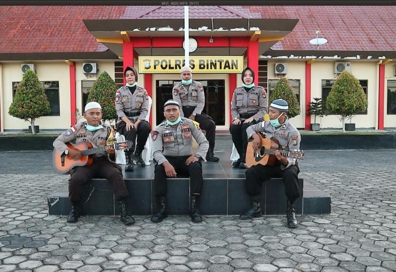 Polres Bintan Bersama MUI Provinsi Kepri Berikan Himbauan Ramadhan Melalui Lagu