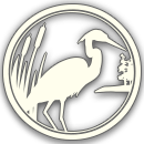 DeGray Lake Resort Logo with Blue Heron