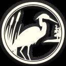 DeGray Lake Resort Logo with Blue Heron