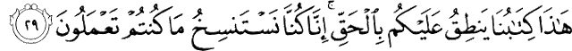 Surat Al-Jatsiyah ayat 29