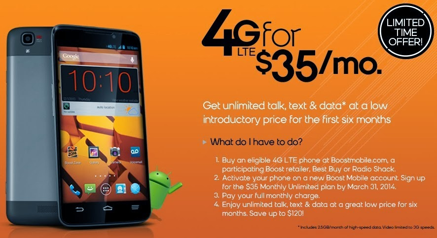 Boost Mobile Launches $35 Monthly Unlimited Plan Promo and