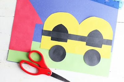 Back to School Bus Letter B Craft for Kids