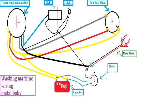 Metal Body Washing Machine Diagrams