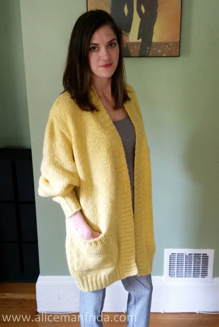 yellow sweater, Zara, cardigan, sweater, knit wear, autumn clothes, winter clothes, Alice Manfrida, women's fashion, style