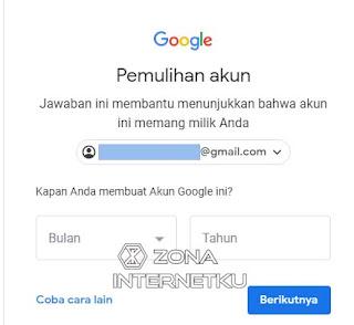 Cara Memulihkan Akun Gmail Yang Lupa Password Dengan Pertanyaan Keamanan