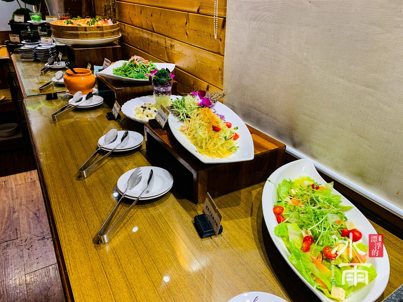 泰安湯悅溫泉會館|餐廳晚餐沙拉