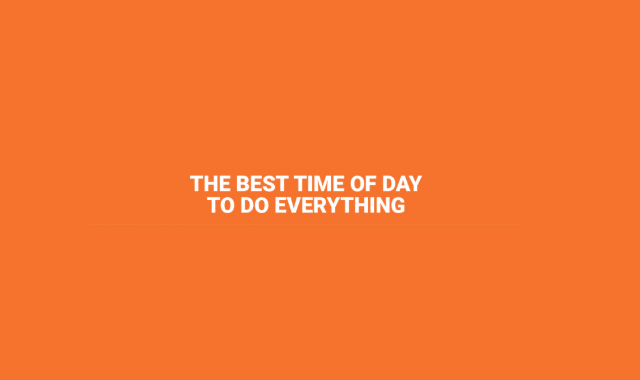 The right time to do different daily tasks