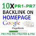 Buy 10X Homepage Dofollow Backlinks Pr1 to PR7 Safe SEO High Pr Backlinks 2016 for $10