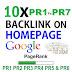 Buy 10X Homepage Dofollow Backlinks Pr1 to PR7 Safe SEO High Pr Backlinks 2016 for $10