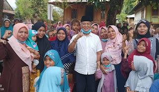 Intens Blusukan ke Desa-Desa, Dukungan Rakyat untuk H. Arifin Terus Mengalir