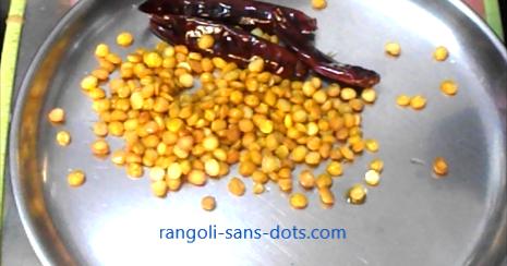 Chutney recipes for dosa idli pongal kolam by sudha balaji for Aarti dish decoration