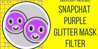 Filter Masker Ungu di Snapchat