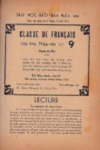 Lớp Học Pháp Văn Tập 9 - Phạm Tất Đắc