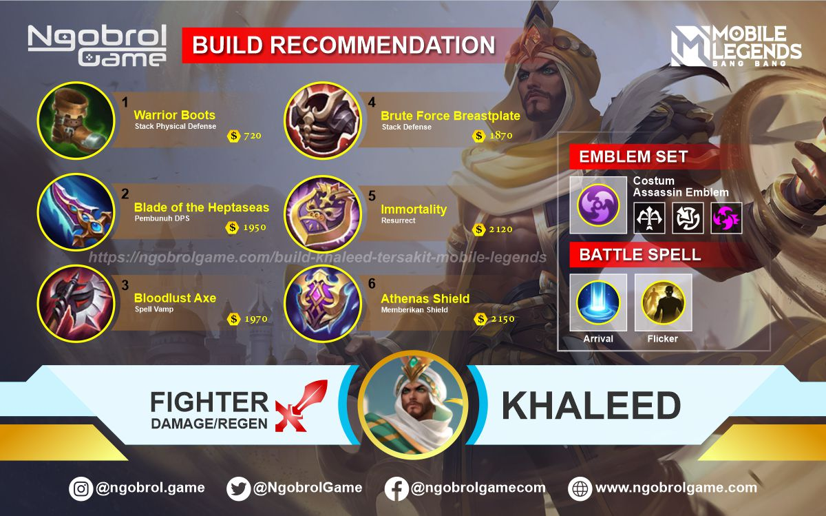 Build Khaleed Top Global Tersakit Mobile Legends