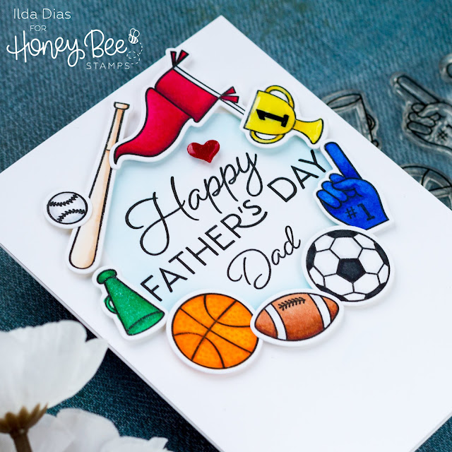 Simple, Father's Day Cards, Stencils, Honey Bee Stamps, Ink Blending, stamps, dies, card making, stamping, ilovedoingallthingscrafty, handmade card, how to,