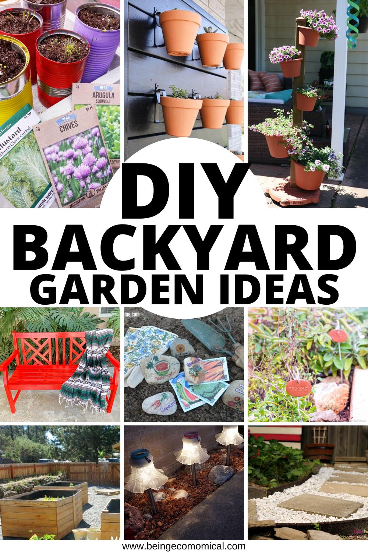 20+ Easy DIY Backyard Garden Ideas   Ecomomical
