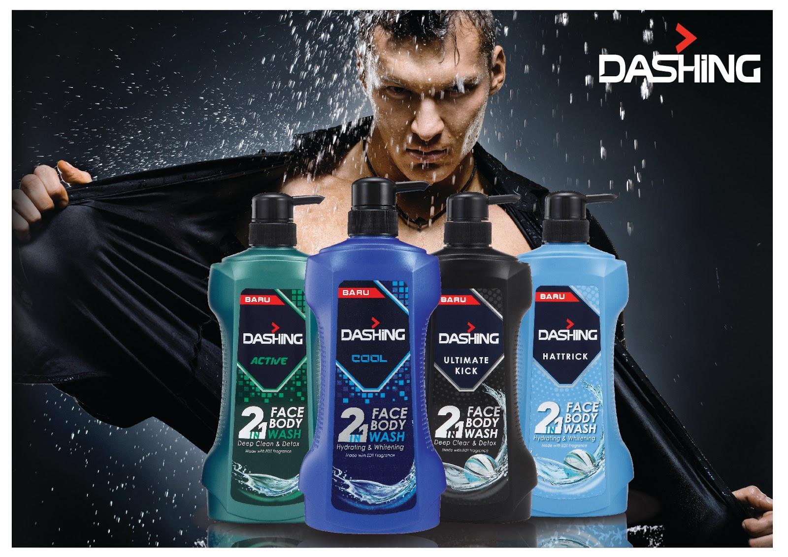 DASHING 2 in 1 Face & Body Wash Mandian Terbaik untuk Lelaki.