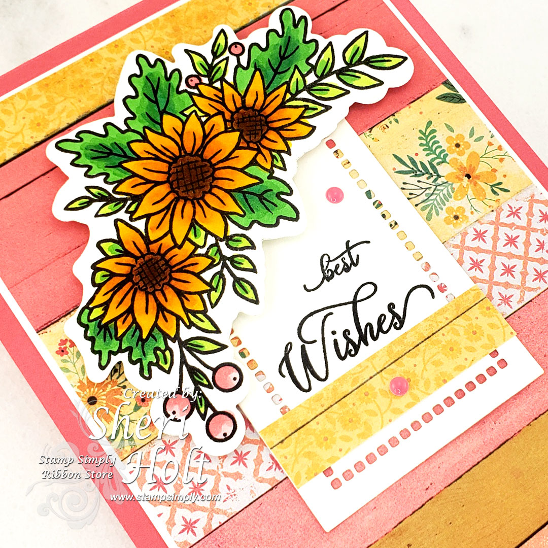 Stamp Simply Fall Flowers stamp and die combo