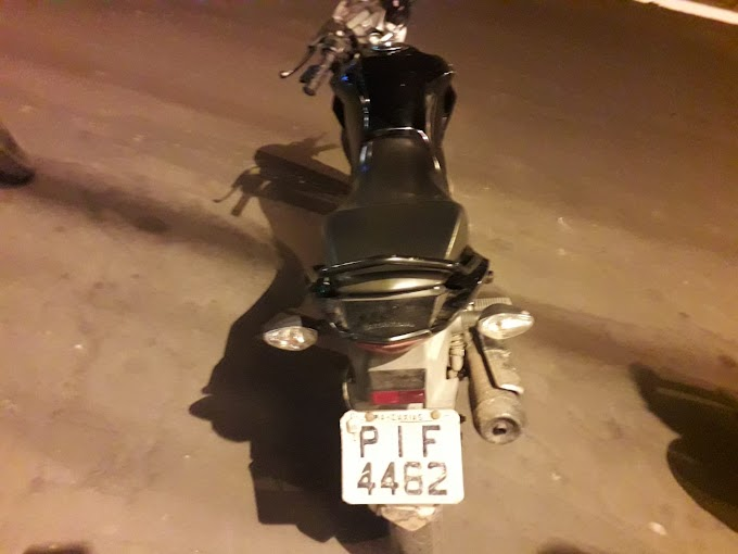 CAXIAS - Através de denúncia anônima no Bacuri, polícia recupera moto roubada na Vila Paraíso