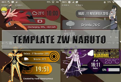 download 6 Template ZW Anime Naruto For Zooper Widget Pro Android