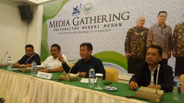 Unimed Gelar Media Gathering Bersama Jurnalis