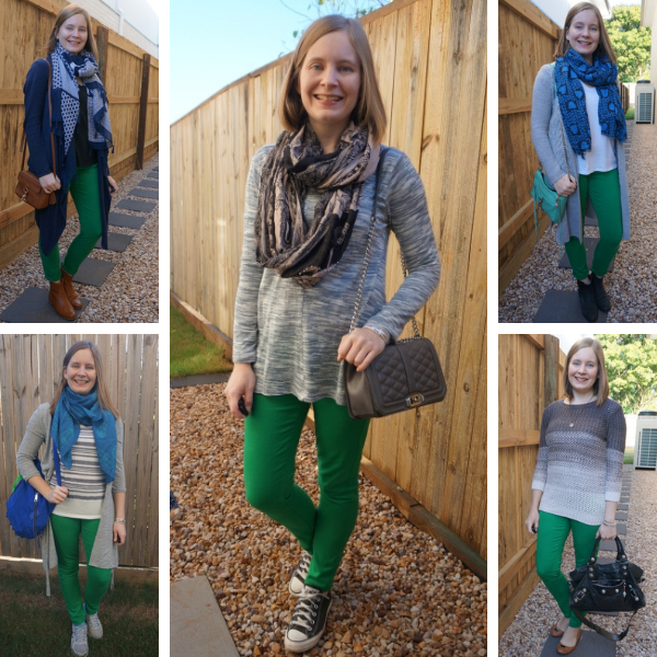 awayfromblue winter outfit ideas with green skinny jeans