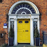 Dublin photos: Bright yellow Georgian door