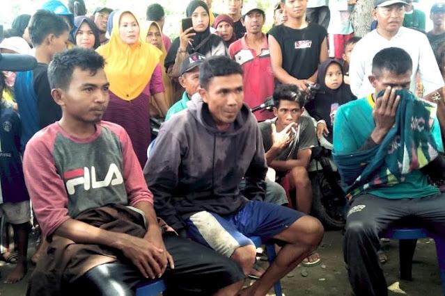 2 hari terombang-ambing di lautan, 3 nelayan asal Dompu berhasil ditemukan