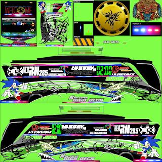 Kumpulan Stiker dan Strobo Livery BUSSID (Bus Simulator Indonesia)