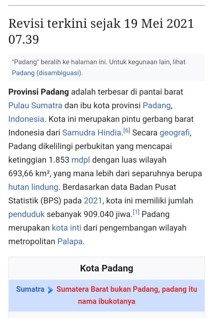 Wikipedia Provinsi Padang