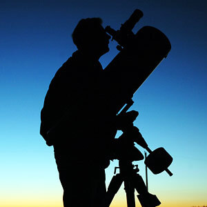 Amateur Astronomer Observing