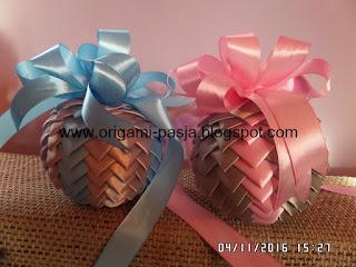 bombka, ze wstązki, siwy, srebrny, róż, niebieski, świeta