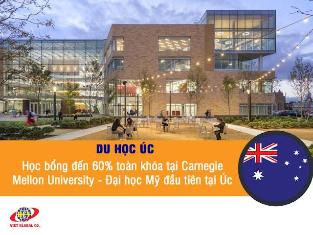 Du học Úc: Học bổng Thạc sĩ đến 60% tại Carnegie Mellon University – Đại học Mỹ đầu tiên tại Úc