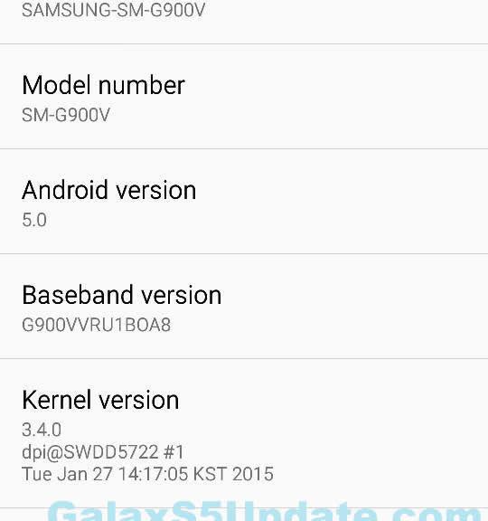 GalaxyS5Update: Verizon Galaxy S5 SM-G900V