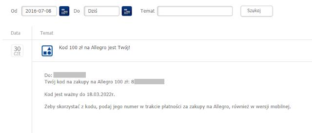 Kod do Allegro od PKO BP