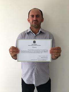 Reeleito o vereador Nen taxista da cidade de Pilõezinhos agradece aos 302 votos e destaca gratidão ao povo pelo reconhecimento