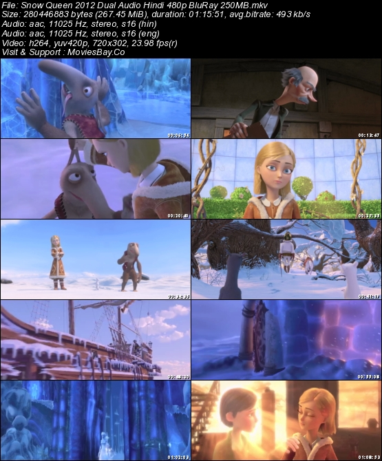Snow Queen 2012 Dual Audio Hindi 480p BluRay 250MB worldfree4u