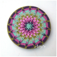 Crochet Mandela Pot Coaster
