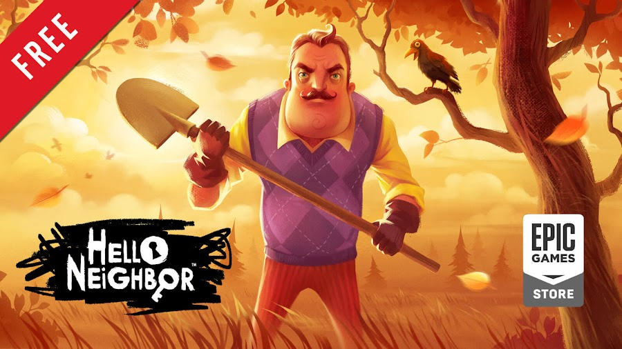 hello neighbor free pc game epic games store indie stealth survival horror game dynamic pixels tiny build