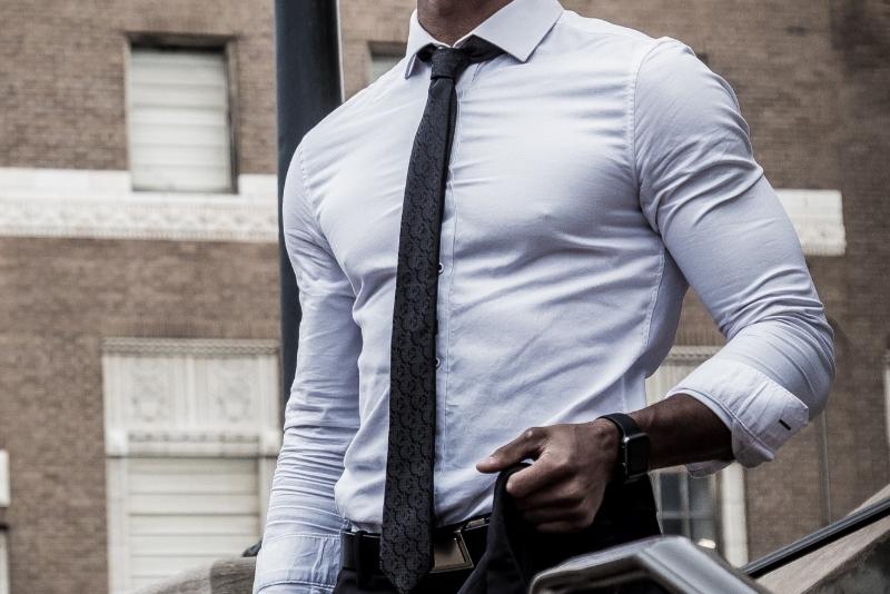 Types of men's neckties.