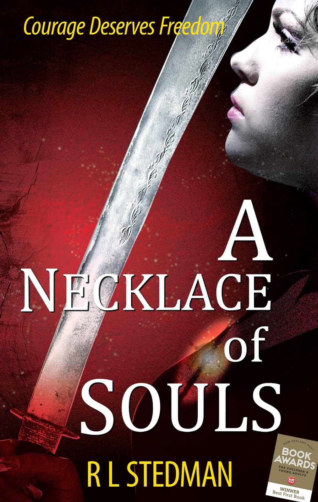 """A Necklace of Souls"" author RL Stedman, cover designer: Kura Carpenter"