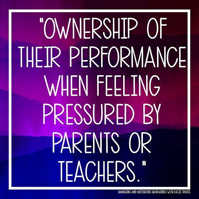 Lord, give my students ownership of their performance when feeling pressured by parents or teachers.