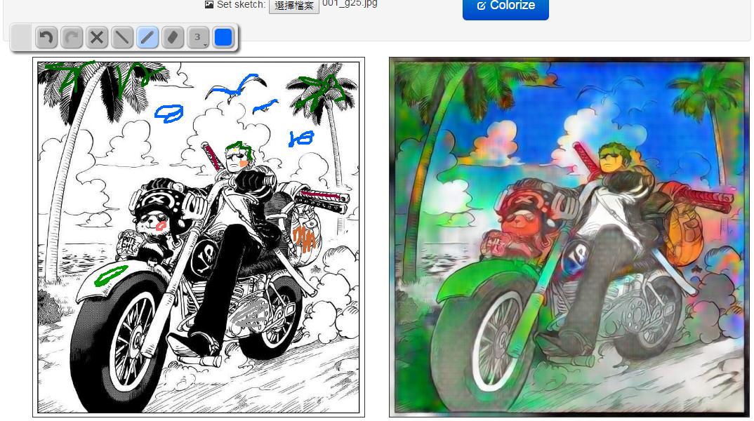 Image%2B005 - 《PaintsChainer》超狂的AI人工智慧幫你自動上色,黑白漫畫直接變全彩!