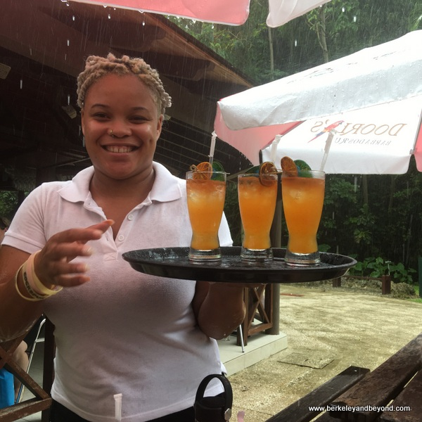 gorgeous rum punch at Harrison's Cave in Barbados