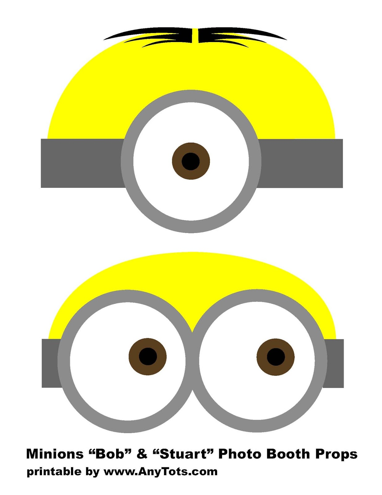 Minions Party Booth Props Free Printables Balloon Tower