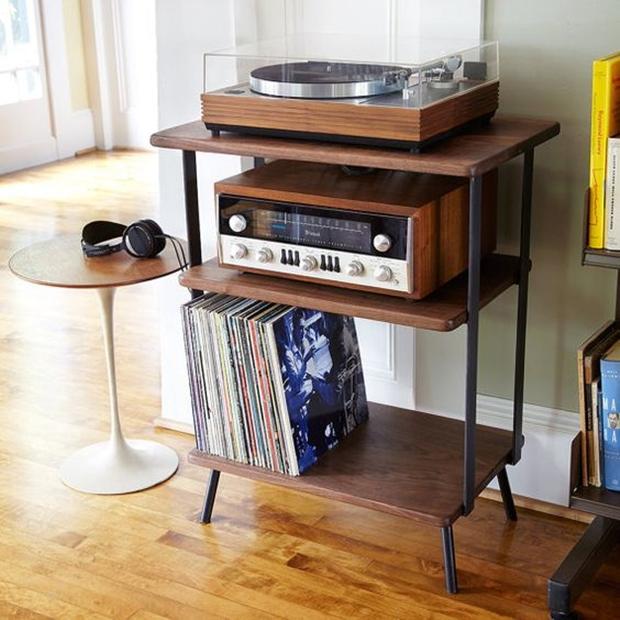 Rádio antigo na decoração, decoração vintage e retrô